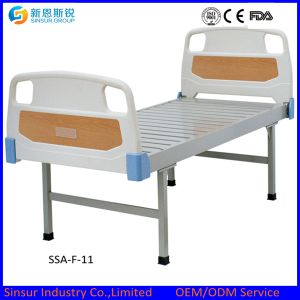Cheap Hospital Furniture ABS Headboard/Footboard Flat Medical Bed pictures & photos