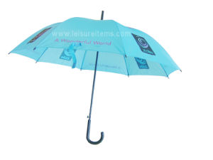 Sky Blue Promotional Umbrella with Complex Logo Printing pictures & photos