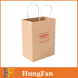 Original Brown Kraft Paper Shopping Tote Bag with Single Color pictures & photos