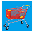 Shopping Trolley Manufacture Metal and Zinc/Galvanized/ Chrome Surface 08018 pictures & photos