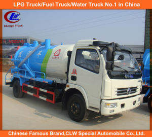 Vacuum Suction Pump Truck for 5000liters Sewage Tank Truck pictures & photos