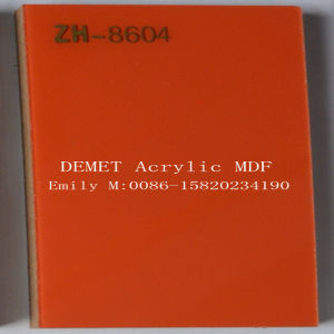 Orange Color Demet Acrylic MDF 1220*2440*18mm (ZH-8604) pictures & photos