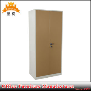 Steel Wardrobe Metal Cheap Clothes Cabinet Almirah Designs with Price pictures & photos