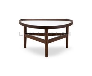 Modern Eye Shape Coffee Table with Wood Legs pictures & photos