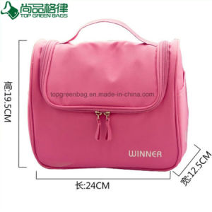 Waterproof Travel Lady Polyester Cosmetic Bag Beauty Pouch Toilet Bag pictures & photos