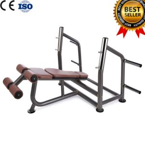Ce Certificated Gym Fitness Equipment Selectorized Machine Olympic Decline Bench pictures & photos