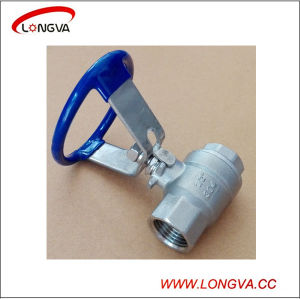 Sanitary Stainless Steel Two Piece Threaded Ball Valve with Oval Handle pictures & photos