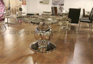 Modern Dining Room Round Table and Chair Furniture Set A8063 pictures & photos