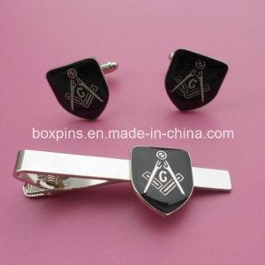 Hot Sale Popular Freemason Logo Set Cufflinks and Tie Pin