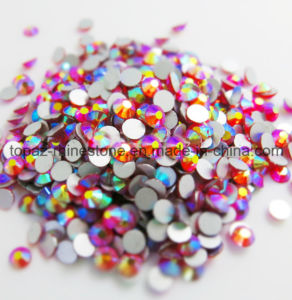 Factory Direct Glass Non Hotfix Crystal Rhinestone for Wholesale (FB-SS16/Orange AB) pictures & photos