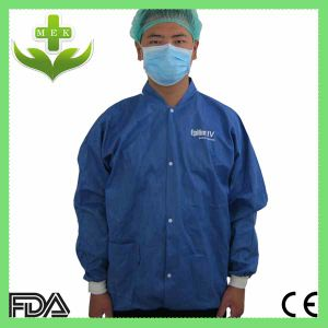 China Manufacturer PP Non-Woven Lab Coat with Button pictures & photos
