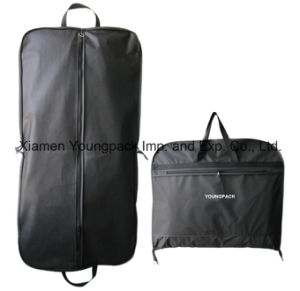 Personalized Custom Printed White Non-Woven Fabric Travel Suit Garment Cover Bag pictures & photos