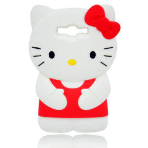 3D Cartoon Hello Kity Silicone Case for iPhone 6s/6plus HTC626D Huaweip8lite (XSK-005) pictures & photos