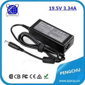 19.5V 3.34A 65W Laptop / Notebook Power Charger for DELL