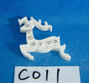 Plaster Reindeer with Bead for Christmas Decoration pictures & photos
