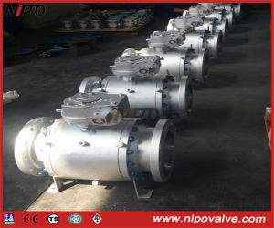 Forged Steel 3-PCS Flanged Trunnion Ball Valve pictures & photos