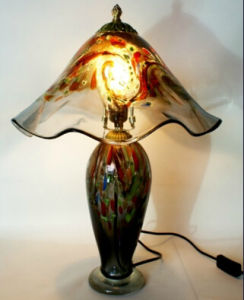 Murano Crystal Tiffany Table Lamps with LED Book Light
