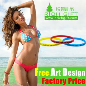 Wholesale Multi-Color Eco-Friendly Custom Silicone Wristband pictures & photos