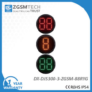 2 Digital Countdown Timer 3 Colors Red Yellow Green Traffic Signal Light for Replacement Dia. 300mm