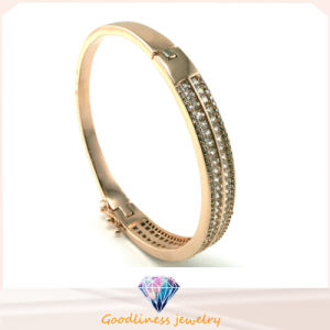 Wholesale 925 Silver Bangle Bracelet with White Stone 925 Silver Fashion Jewelry (G41249) pictures & photos