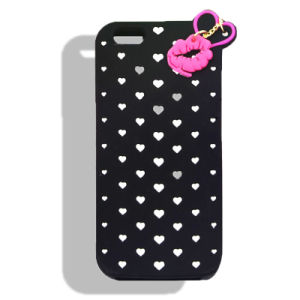 Lipstick Pendant Cartoon Silicone Phone Case for iPhone 6splus 7 7plus S6 S7 S7edge (XSF-022)