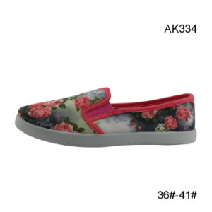 Cheap Shoes Women Canvas Injection Small Order Wholesale Footwear (AK334) pictures & photos