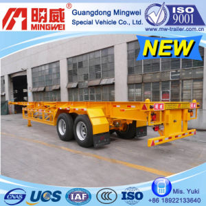 CCC/ ISO/ 20 Ft 2-Axles Container Transport Semi Trailer (A)