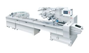 Turntable Flow Wrapping Machine for Waffer (FND-F550R)
