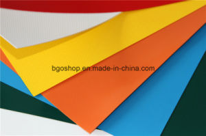 PVC Laminated Tarpaulin Truck Cover Sunshade (500dx300d 18X12 340g) pictures & photos