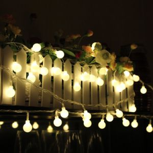 High Quality and Cheap White/Blue/Warm White LED Christmas Bulb String Lights Outdoor pictures & photos