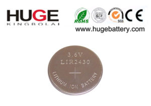 3.6V Lithium Rechargeable Battery Button Cell Lir2430 pictures & photos