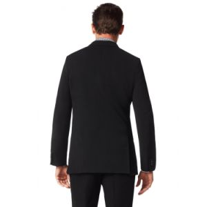 OEM Factory Price Customized Men′s Cashmere Wool Slim Fit Trendy Black Suit Blazer Jacket and Pants (SUIT62443-11) pictures & photos