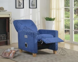 Music Storage Multifunctional Modern Fabric Recliner Chair Ottoman with Blue Tooth