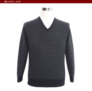 Men′s Yak V Neck Long Sleeve Pullover spring Autumn Sweater pictures & photos