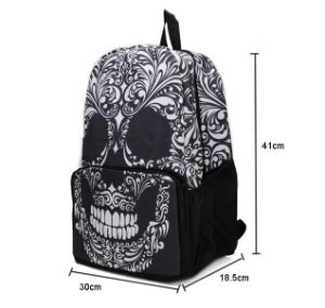 Wholesale Unisex Shoulder Bag Skull Printed Backpack Sh-16061218 pictures & photos