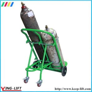 Wearing-Resisting Double Gas Cylinder Hand Trolley Ty130 pictures & photos