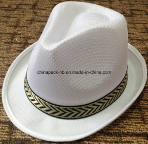 Promotional Oliver Straw Fedora Hats with Different Colors pictures & photos