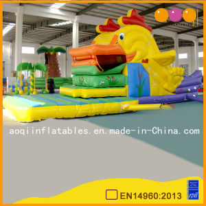 Cock Moving Mouth Inflatable Standard Slide for Kid (AQ806) pictures & photos