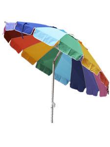 7.9 FT Beach Umbrella Rainbow Umbrella pictures & photos