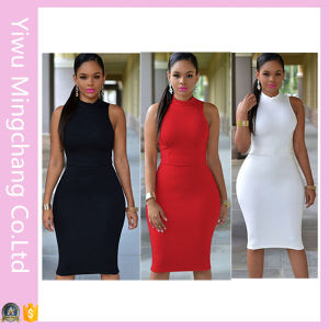 OEM 7 Colors Plus Size Women Sexy Slimming Dress pictures & photos