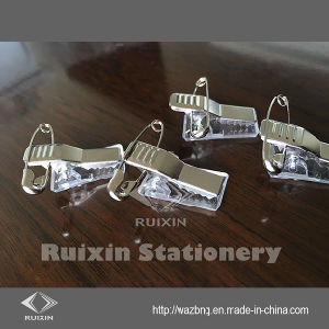 Factory Outlets Name Badge Clip with Pin, Card Clip, Paper Clip