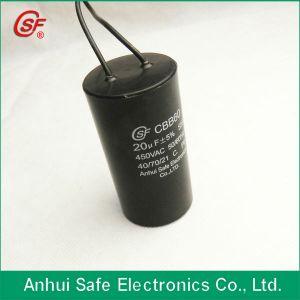 Cbb60 Capacitor 120UF 450VAC to White Cable Capacitors 35UF pictures & photos