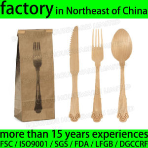 Disposable Wooden Cutlery Fancy Handle