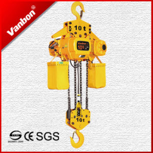 10t Fixed Type Electric Chain Hoist (WBH-10004SF) pictures & photos