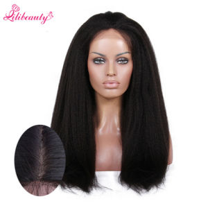 Kinky Straight Full Lace Wigs with Silk Base for Black Women pictures & photos