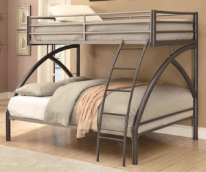 Uptown Contemporary Twin Over Full Metal Bunk Bed pictures & photos