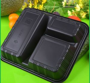 Vacuum Formed Blister Packaging Plastic Food Compartment Tray pictures & photos