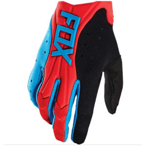 Red&Blue High Quality Motorcycle Gloves for off-Road Racing (MAG73) pictures & photos