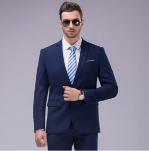 Italian Blue Black Best Business Men Suits for Groom pictures & photos