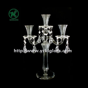 Glass Candle Holders for Party Decoration with Three Posts (10*23*32) pictures & photos